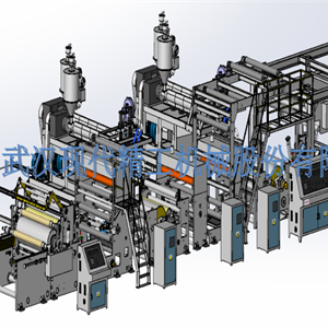 High-speed extrusion coating compound machine